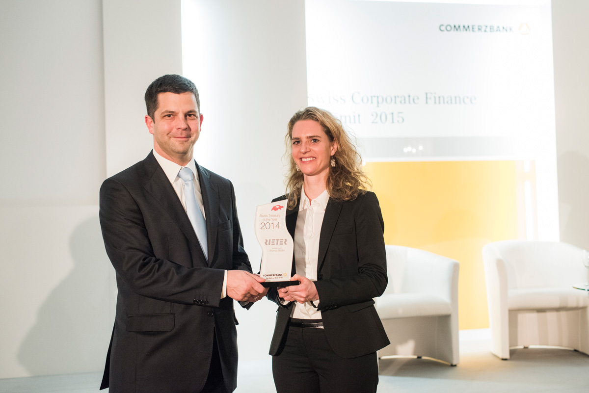 Gewinner des Swiss Treasury of the Year Awards 2015